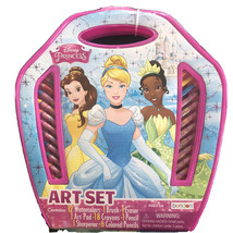 NEW Disney Princess 41 Piece Art Set In Handled Plastic Carrying Case - $12.86