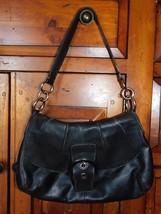 Coach Soho Black Leather Pleated Flap Bag 17217 - $41.99