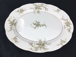 "Theodore Haviland New York ""Rosalinde"" Platter w/Drip Resevoir, 14"" by 11"" - $39.99"