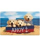 "ANTI-FATIGUE CUSHIONED FLOOR MAT (18"" x 30"") PVC, 3 DOGS ON THE BEACH, AHOY - £16.30 GBP"