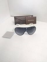 Gucci Woman New Sunglasses GG 1004/S Shield Grey Lenses - $257.40