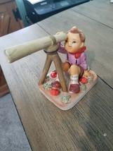 VINTAGE LEFTON FIGURINE AMERICAN CHILDREN LITTLE ASTROLOGER TELESCOPE JA... - $17.98