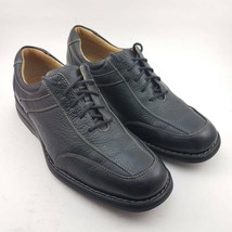 Johnston & Murphy Mens Oxfords Shoes Black Leather Lace Up Casual Footwe... - $36.99
