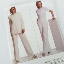 Vogue American Designer Pattern 2665 Donna Karan Jacket Pants Sizes 8 10 12 - $13.86