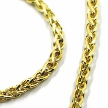 9K YELLOW GOLD BRACELET SPIGA EAR ROPE LINKS 2.5 MM THICKNESS, 8.3 INCHES, 21 CM image 2
