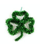 St. Patricks Day Tinsel Shamrock Wall Decoration by Greenbrier - $6.68