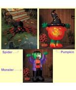 LED Lighted Halloween Airblown Inflatable Spider Pumpkin Monster Yard Decor - $24.00+