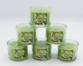 (Set of 6) Bath & Body Works Verbena Waters Mini Small Green Candles 1.3 oz - $26.99
