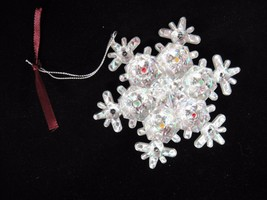 Avon Gift Collection What a Star Light-up Ornament Crystal Look Snowflake - $12.86