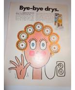 Vintage Dippity-Do Heated Roller Conditioning Set Cartoon Print Magazine... - $8.99