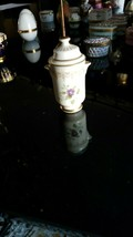"Minton Bone China Flower Two-Handle Covered Miniature 3"" Urn/Vase Franklin Mint  - $19.80"