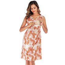 Maternity's Dress V Neck Floral Print Sleeveless Fashion Dress image 5