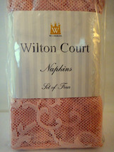 Victorian Lace Dinner Napkins Set of Four (4) by Wiltton Court  Dusty Ro... - $9.89