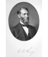 CHARLES G. KING Ohio Bank President & Lumber Businessman - 1883 Portrait... - $13.86