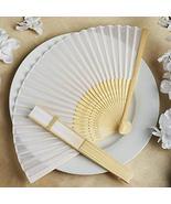 Wholesale Silk Folding Wedding Party Favor Fans White YSefa - $131.68