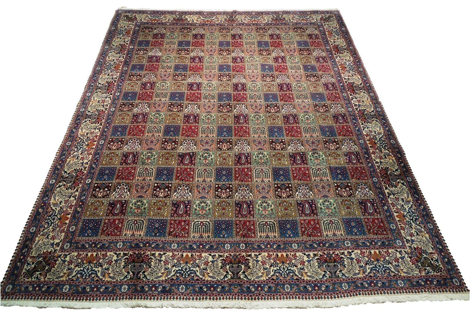9 x 13 Fine Quality Complex Design Multi-Color Bakhtiari Persian Rug