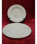 "Portmeirion Sophie Conran Biscuit 8"" Salad Plates Set of 2 - $20.79"