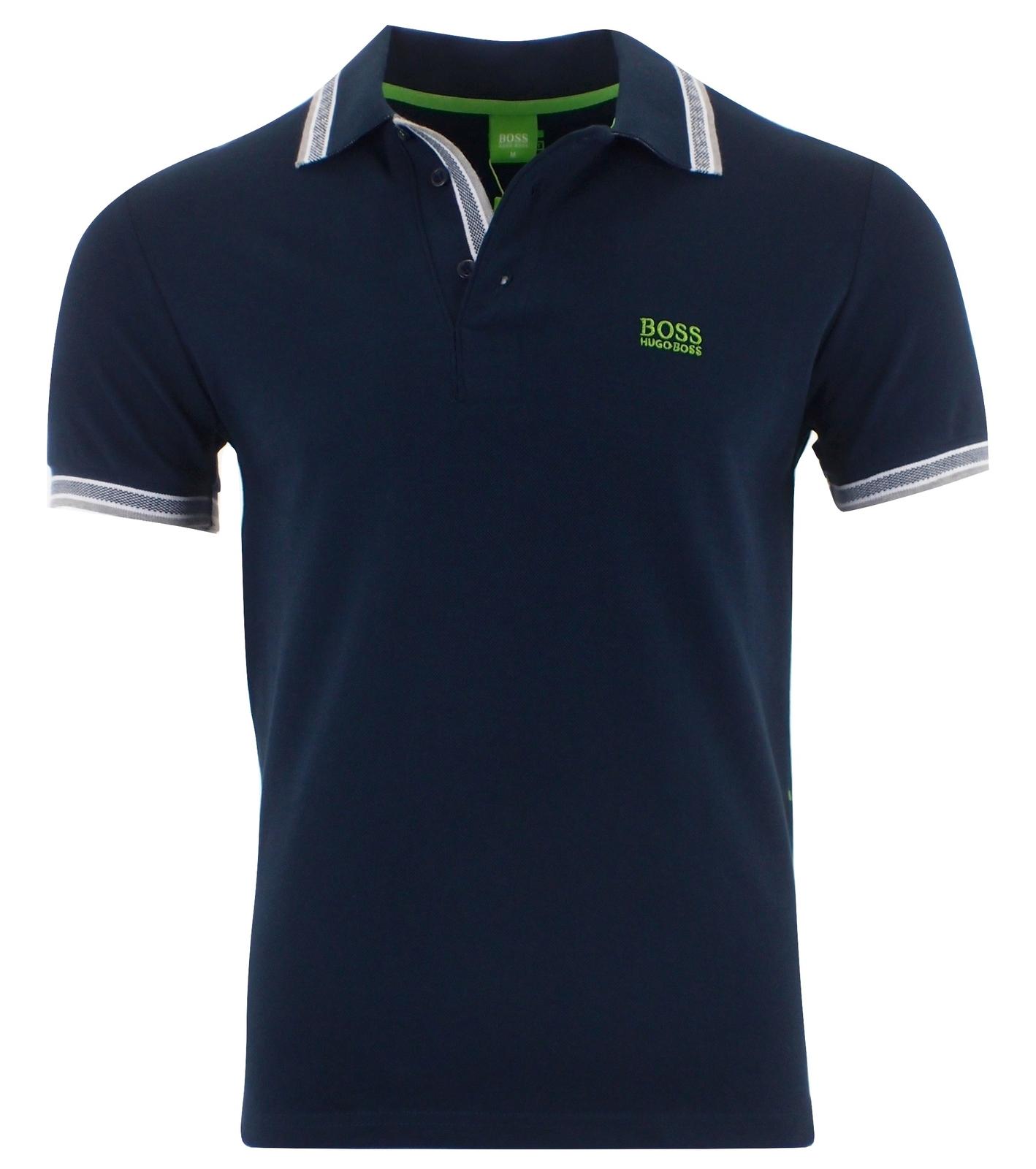 Hugo Boss Men's Short Sleeve Modern Fit Cotton Polo Shirt DARK BLUE S M L XL XXL for sale  USA