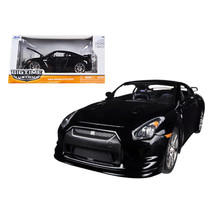 2009 Nissan GT-R R35 Black 1/24 Diecast Car Model by Jada 96811bk - $48.95