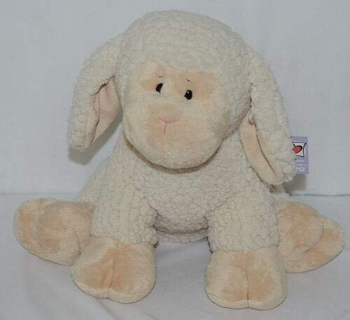 GANZ Brand HE9916 Tan and White Fleece Plush Snuggle Lamb