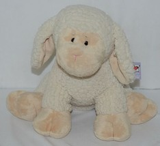 GANZ Brand HE9916 Tan and White Fleece Plush Snuggle Lamb image 1