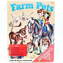 Vintage 1954 Farm Pets by Anna Ratzberger Rand McNally Start-Right Elf Book