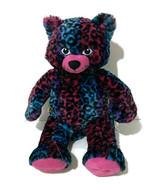 """Build A Bear Wild About Spots Leopard Cat Plush 18"""" Blue Pink Purple Sof... - $12.20"""