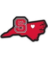 North Carolina State Wolfpack Home State Auto Car Window Vinyl Decal Sti... - $4.95