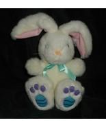"10 "" Vintage 1999 Gac Blanc Bunny Rabbit Oeuf de Pâques Pieds Animal en ... - $20.67"