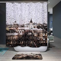 Monily Polyester Waterproof Vintage Countryside Scenic Dog Shower Curtain Bathro - $30.64