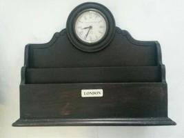 Imperial Clock Works Birmingham Wall Organizer Mail Holder Wood London - $78.91