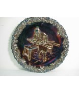 Fenton Carnival Glass Plate - 1970 Collector Series #1 - Red Base Glass - $12.64
