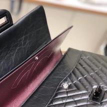 Chanel Black 2.55 Reissue SO BLACK CHEVRON Calfskin 227 Jumbo Double Flap Bag image 6