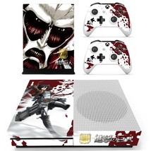 Attack on Titan skin decal for xbox one S console and 2 controllers - $15.00