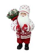 "Northlight 12.5"" Retro Christmas Santa Deer Sweater Sack of Pine Table D... - $21.77"