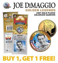 JOE DiMAGGIO Golden Legends 24K Gold Plated State Quarter Coin BUY 1 GET... - $12.82