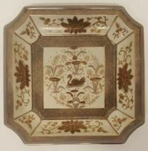 Vintage #5985 Square Hand Painted Bowl Plate Platter Swan Duck Goose Bir... - $29.69