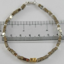 Bracelet Giadan 925 Silver with Hematite Polished Diamond & Black Made i... - $198.29