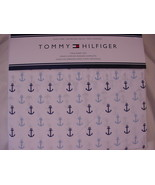Tommy Hilfiger Navy and Light Blue Anchors on White Nautical Sheet Set Twin - $49.00