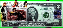 MONEY US $2 DOLLARS 1976 BROOKLYN, NY. STAMP CANCEL ICONS MUSIC LED ZEPP... - $51.89