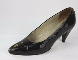 Via Spiga women's classic vintage shoes heels Made In Italy black size 8B - $19.99