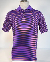 Under Armour Golf Purple & Pink Stripe Short Sleeve Polo Shirt Men's NWT - $59.99