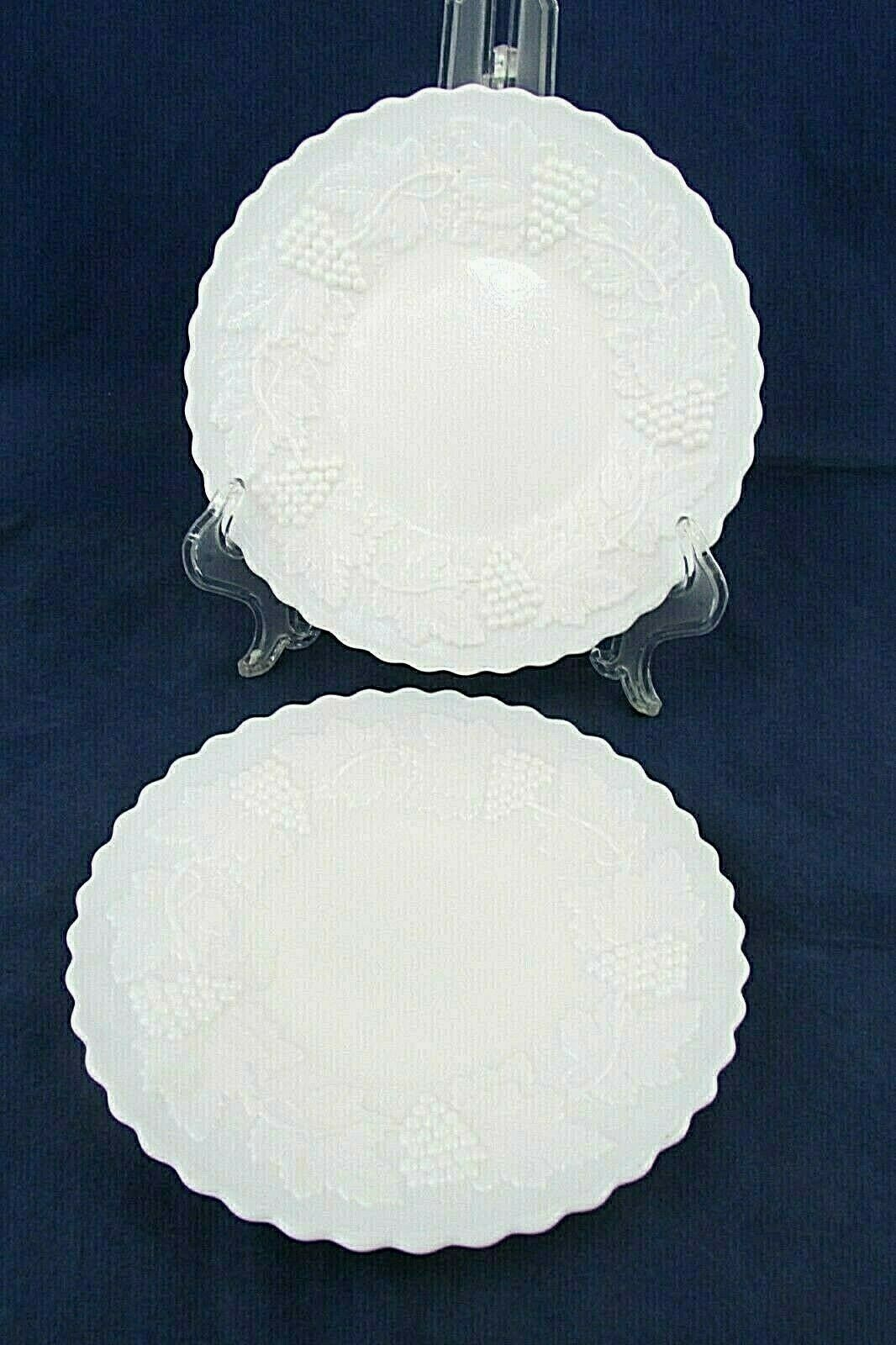 "Primary image for Imperial Glass Vintage Grape Milk Glass Salad Plate 9"" Collectible Tableware EUC"