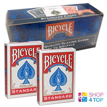 12 DECKS BICYCLE RIDER SEALED BOX RED DOUBLE BACK NO FACE MAGIC TRICKS C... - $63.75