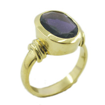 fine Amethyst CZ Gold Plated Purple Ring Natural regular US gift - $17.99