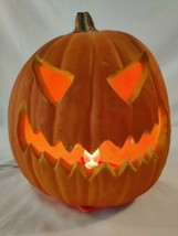 "Trendmasters Vintage1993 Lighted Foam Blow Mold Halloween Pumpkin JOL 8""... - $23.38"
