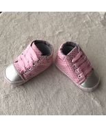 Girl's Crib Lace Sneakers, Soft Sole, Pre Walkers, Size 6-12M - $10.99
