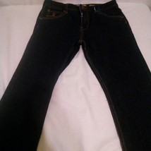 L R Geans The Straight Fit Girls Dark Wash Blue Jeans Size 18 - $14.84