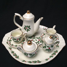 Vintage Minature Christmas Tea Set Formalities By Baum Bros - $27.72