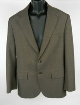 Haggar 40 Mens Sport Coat LS Brown 2-Button Partially Lined Casual Or Ca... - $45.53